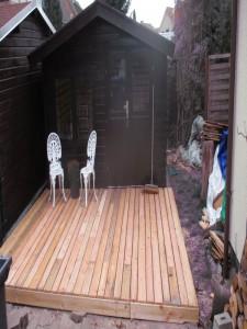 Terrasse mit Unterkostruktion