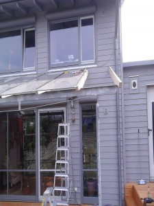 Terrassenüberdachung Balken erneuern